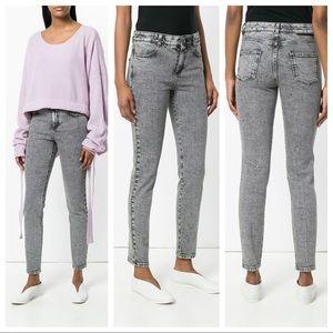 Stella McCartney Acid Wash Skinny Jeans Grey